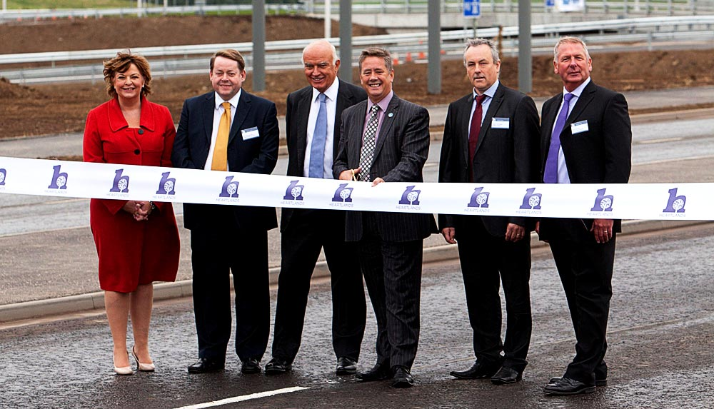 Junction 4a is officially opened by the Minister for Transport and Veterans, Keith Brown